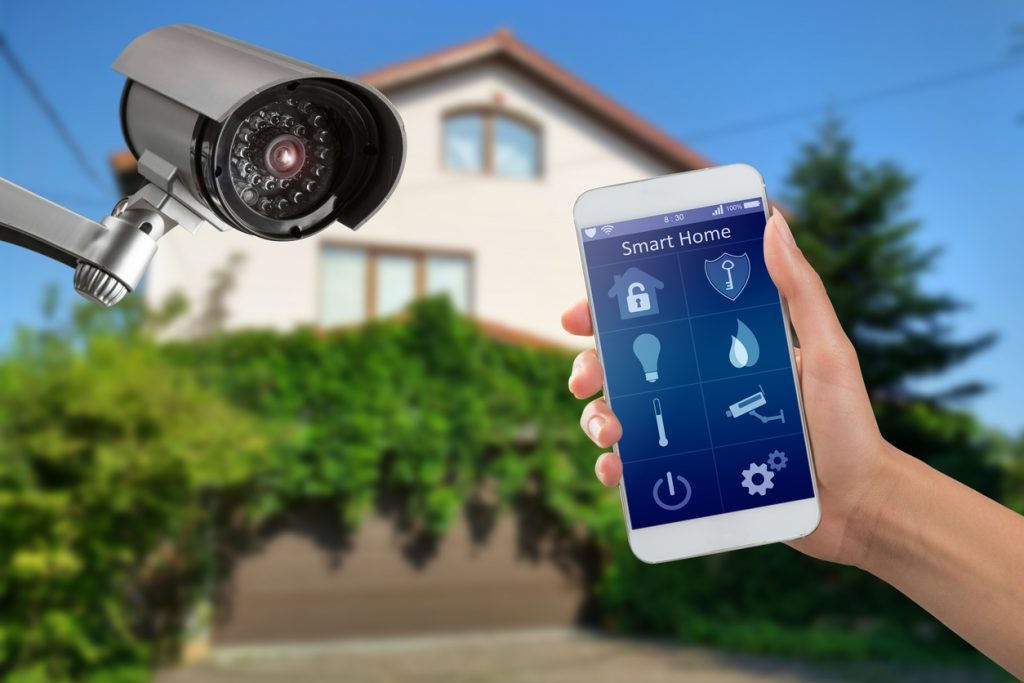 """Newer security cameras can """"talk"""" to phone apps, letting you check in on your pets when away from home."""
